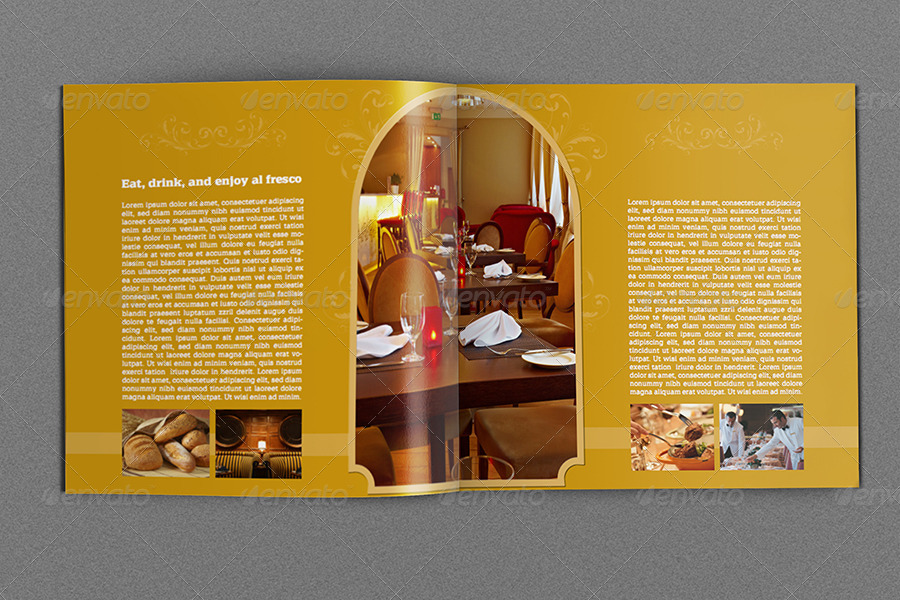 Hotel and motel brochure template 12 pages by owpictures for Hotel brochure templates free download