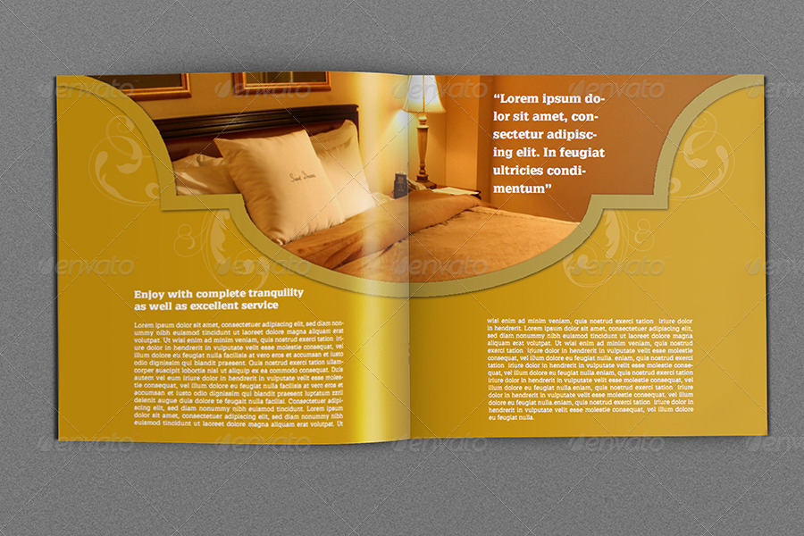 Hotel And Motel Brochure Template Pages By OWPictures - Hotel brochure template