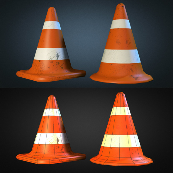 Traffic Cones - 3DOcean Item for Sale