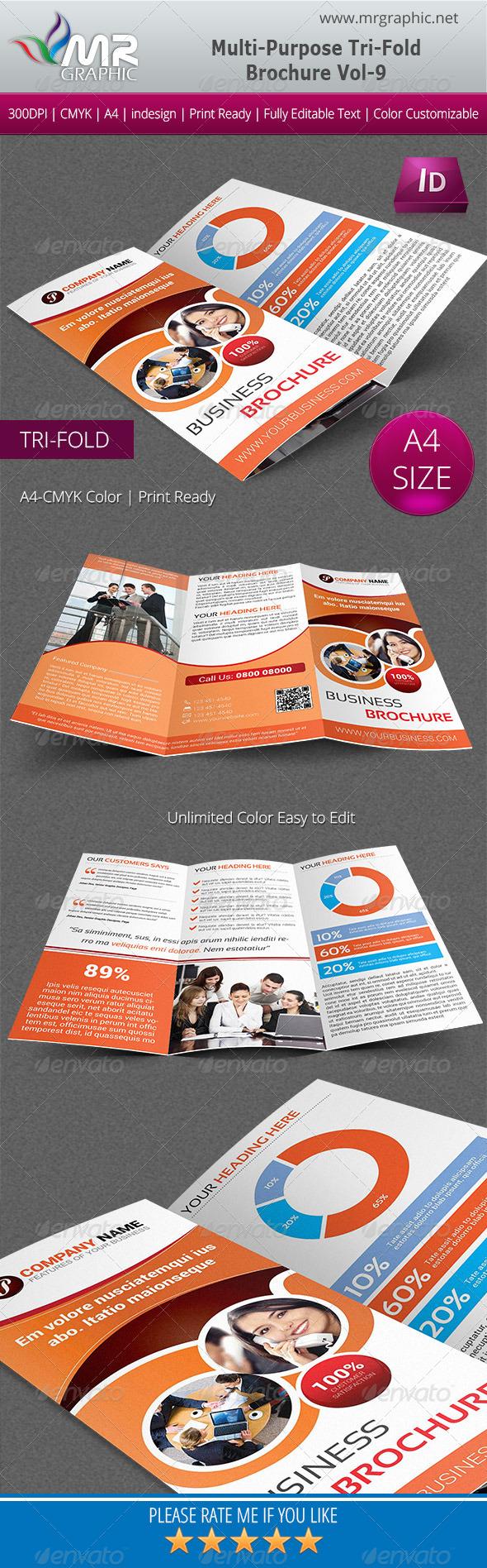 Multipurpose Business Tri-Fold Brochure Vol-09 - Corporate Brochures