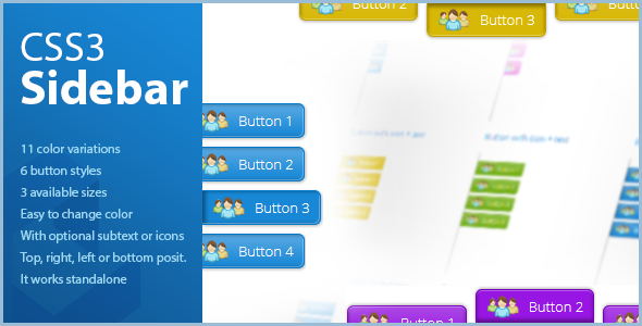 CSS3 Sidebar - vertical & horizontal - CodeCanyon Item for Sale