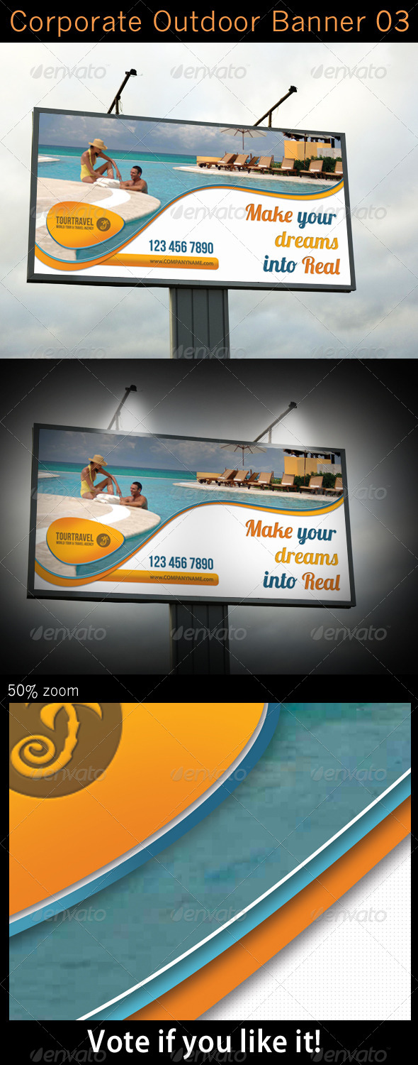 Corporate Outdoor Banner 03 - Signage Print Templates
