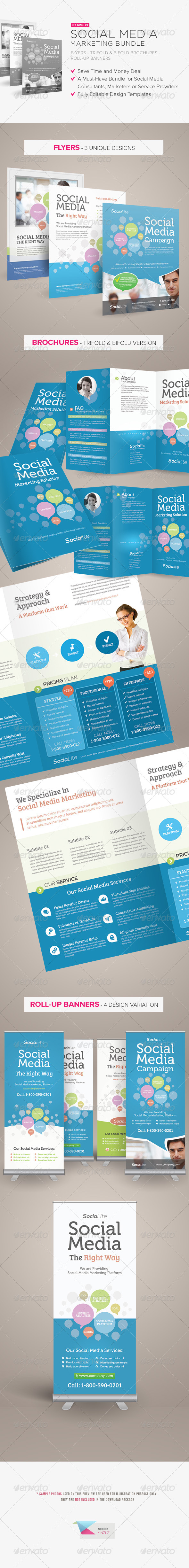 Social Media Marketing Bundle - Print Templates