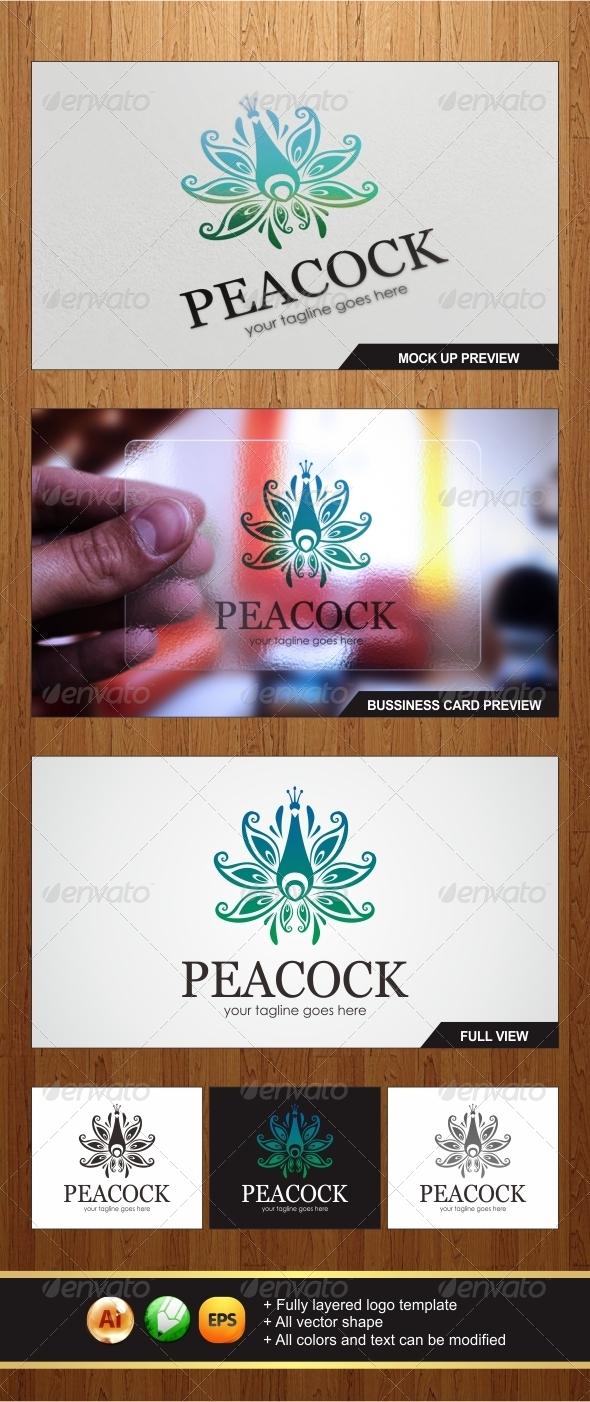 Peacock Logo - Animals Logo Templates