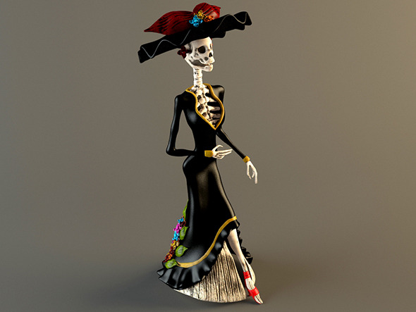 La Catrina Garbancera - 3DOcean Item for Sale
