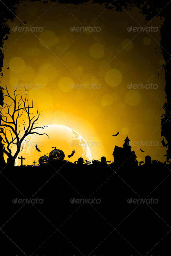 Grunge Background for Halloween Party - Halloween Seasons/Holidays