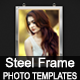 Steel Photo Frames Mock-up - GraphicRiver Item for Sale
