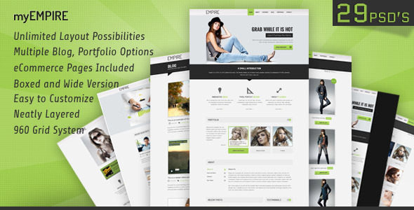 myEmpire – Business, Portfolio, Shop PSD