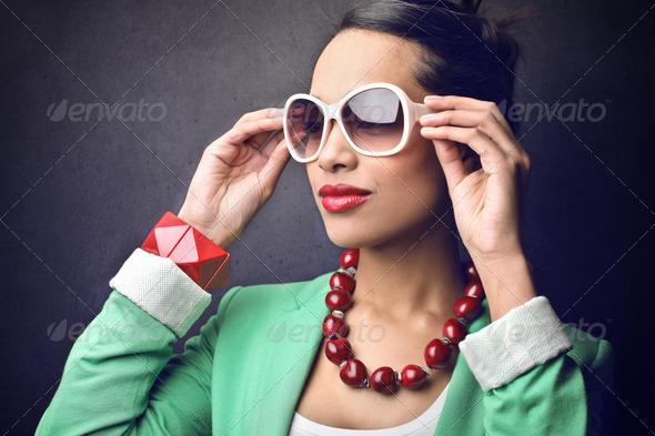 Fashionable Girl - Stock Photo - Images