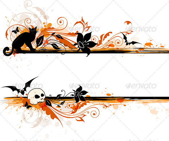 halloween banner by artness graphicriver river clipart pics river clip art black and white