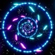 Sci Fi Space Neon Swirl Particles Background Loop 4K