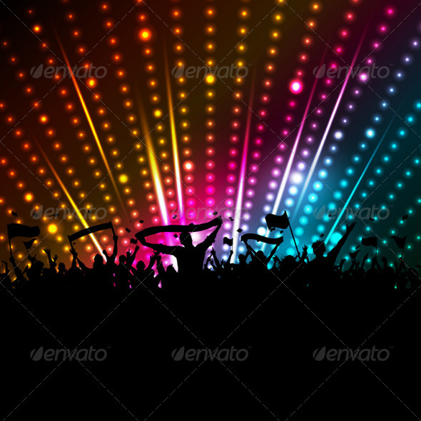 Disco crowd background - People Characters