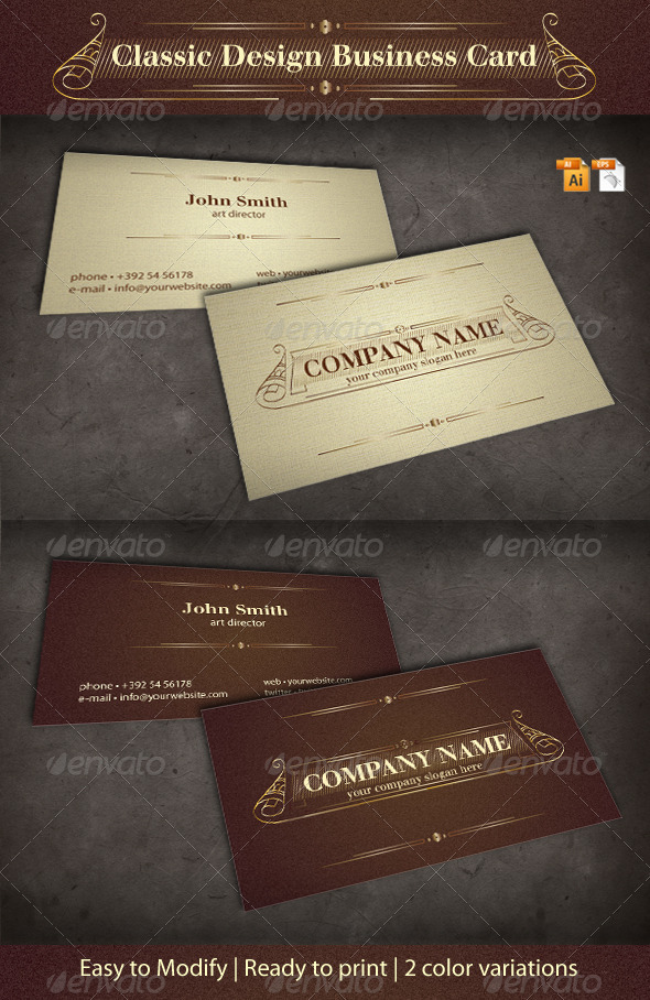 Classic design business card by oleana graphicriver classic design business card creative business cards colourmoves