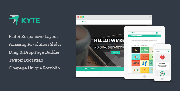 Download Kyte - Flat Onepage Responsive WordPress Theme nulled version