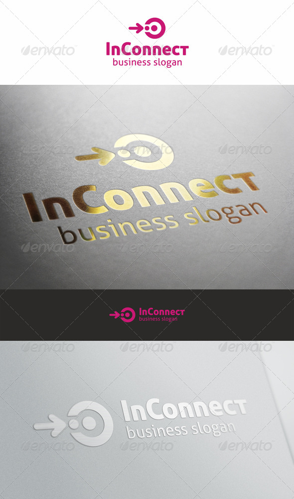 In Connect Logo Template - Vector Abstract
