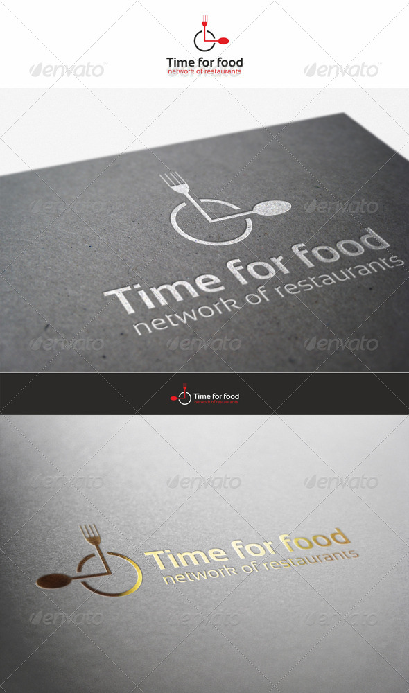 Time for Food - Restaurant Logo
