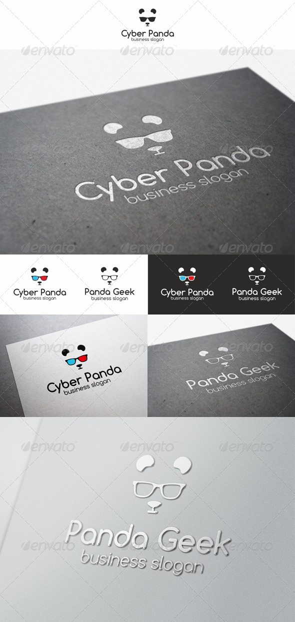 Panda Geek Logo Animal - Animals Logo Templates