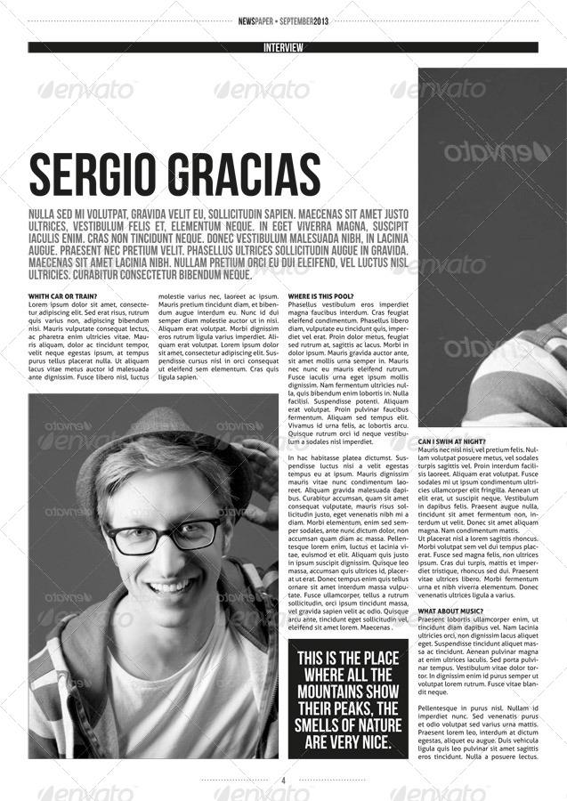 magazine interview template