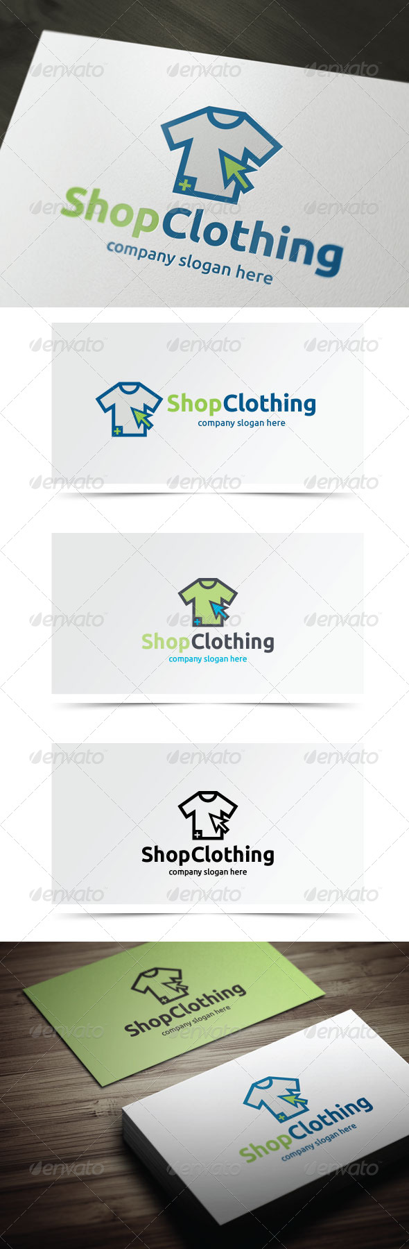 Shop Clothing - Symbols Logo Templates
