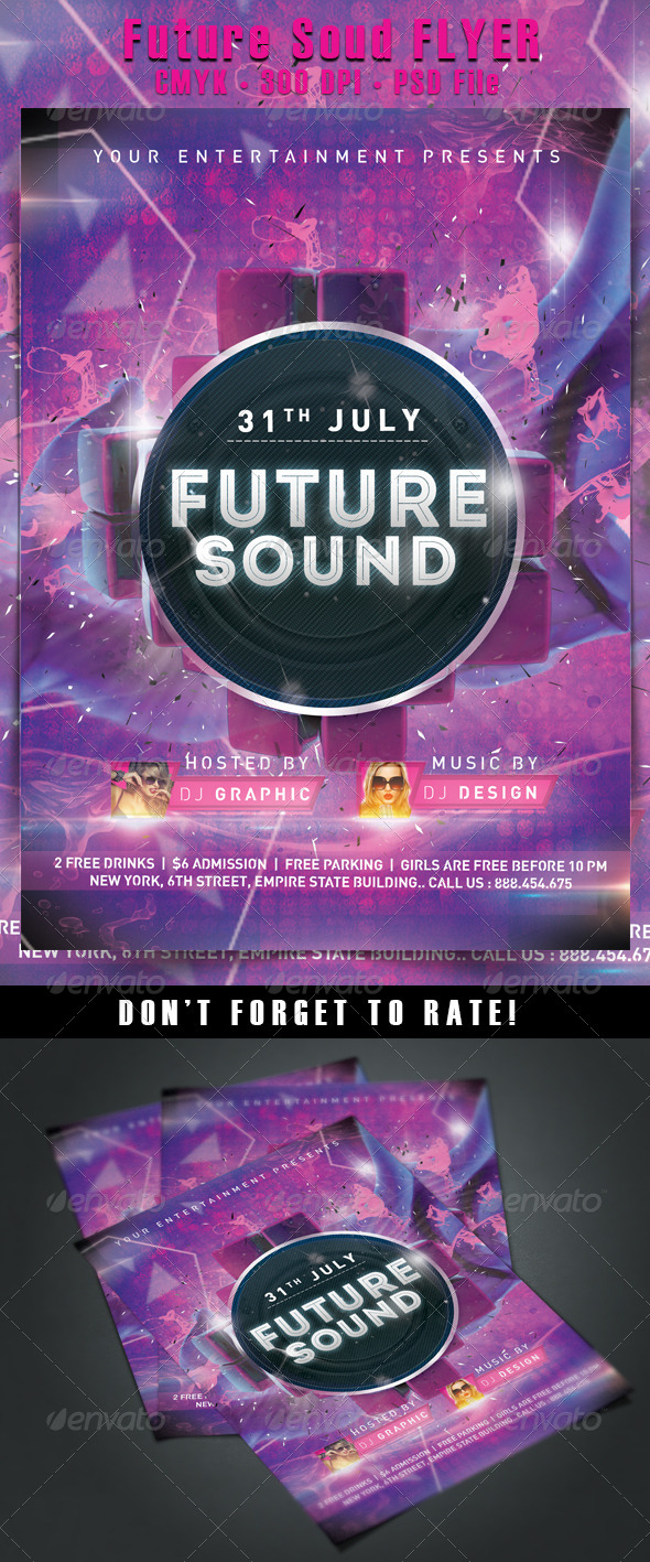 Future Sound Flyer - Events Flyers