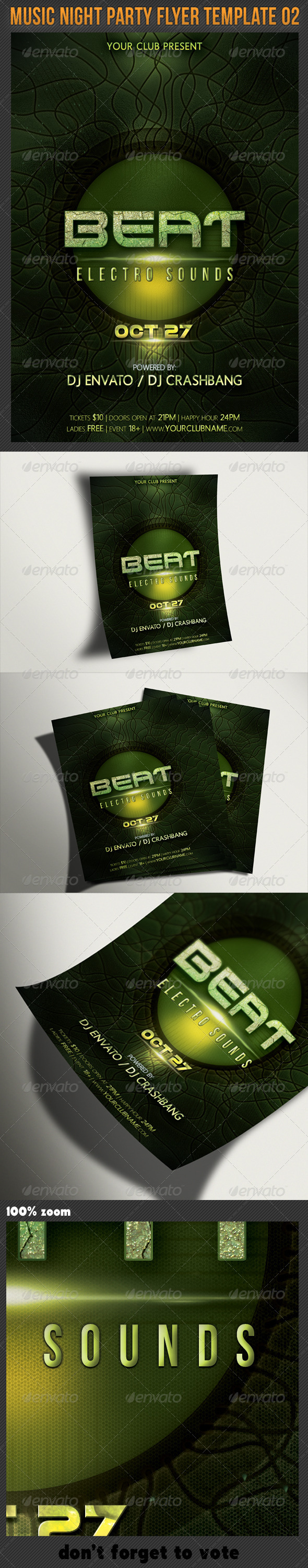 Music Night Party Flyer Template 02 - Clubs & Parties Events