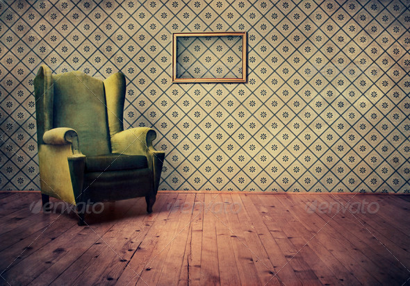 Old-fashioned Armchair - Stock Photo - Images