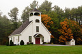 White Chapel in New England Autumn - PhotoDune Item for Sale