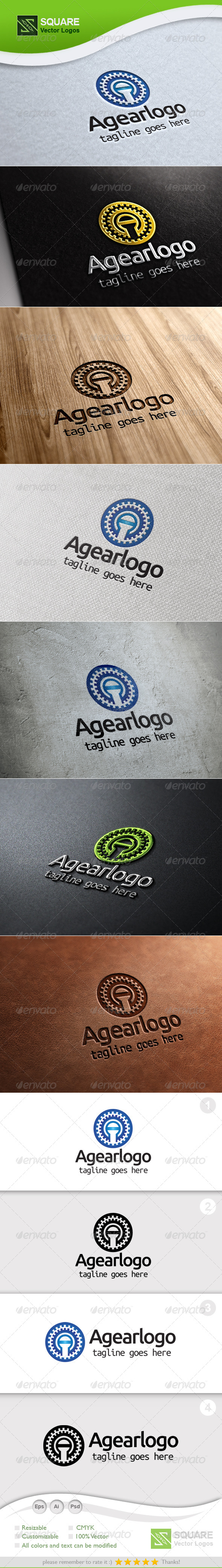 A, Gear Vector Logo Template - Letters Logo Templates