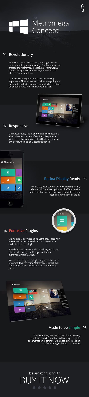 Metromega - Responsive HTML5 Metro Template by Grozav   ThemeForest