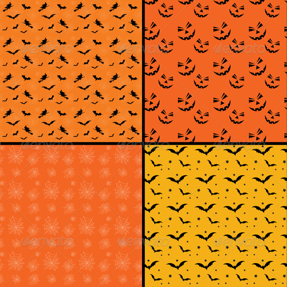 Seamless tile Halloween backgrounds - Halloween Seasons/Holidays
