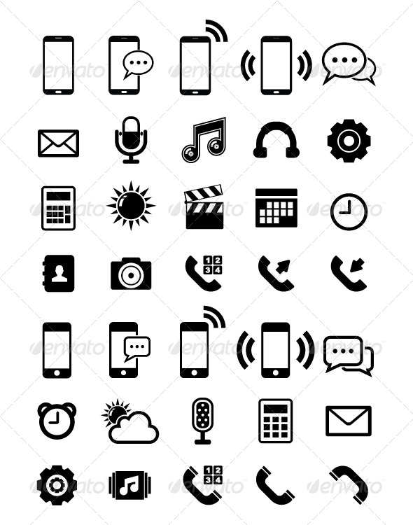 Phone Icon By Tzubasa Graphicriver