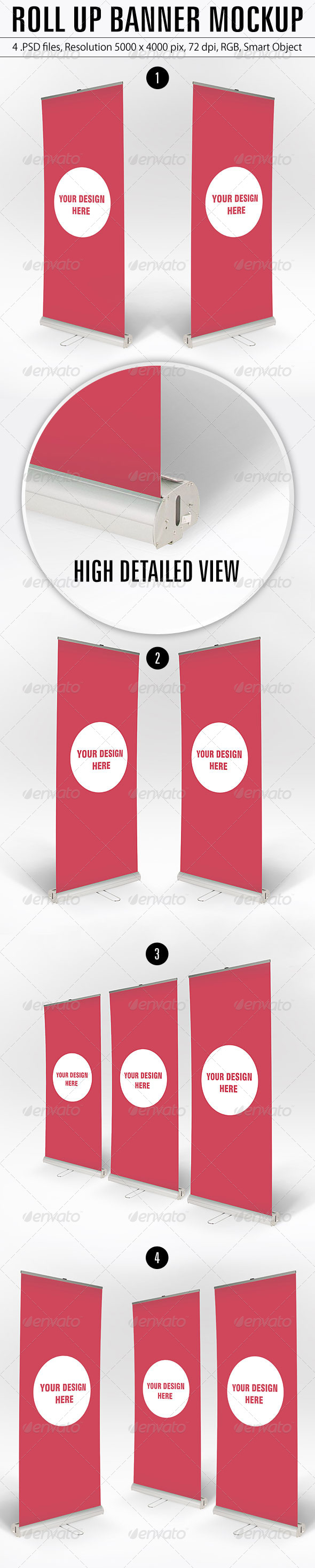 Roll Up Banner Mockup - Product Mock-Ups Graphics