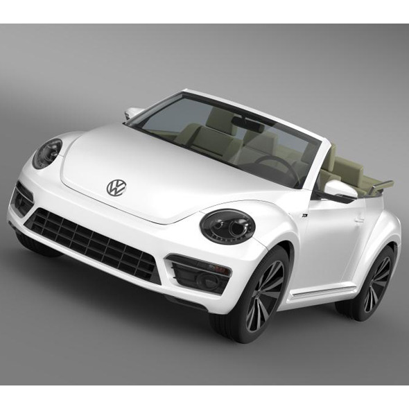 VW Beetle RLine Cabrio 2014  - 3DOcean Item for Sale