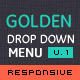 Golden Menu - Responsive Flat Dropdown Menu