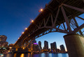 Granville Island Bridge on a Clear Night - PhotoDune Item for Sale