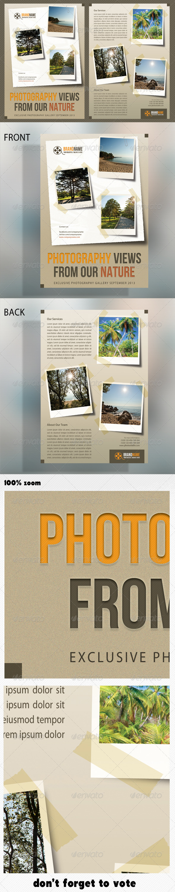 Photograph Product Multipurpose Flyer 03 - Corporate Flyers