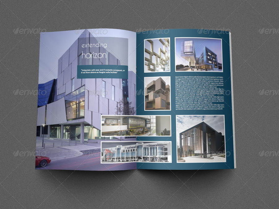 brochure templates envato - architectural brochure template 12 pages by owpictures