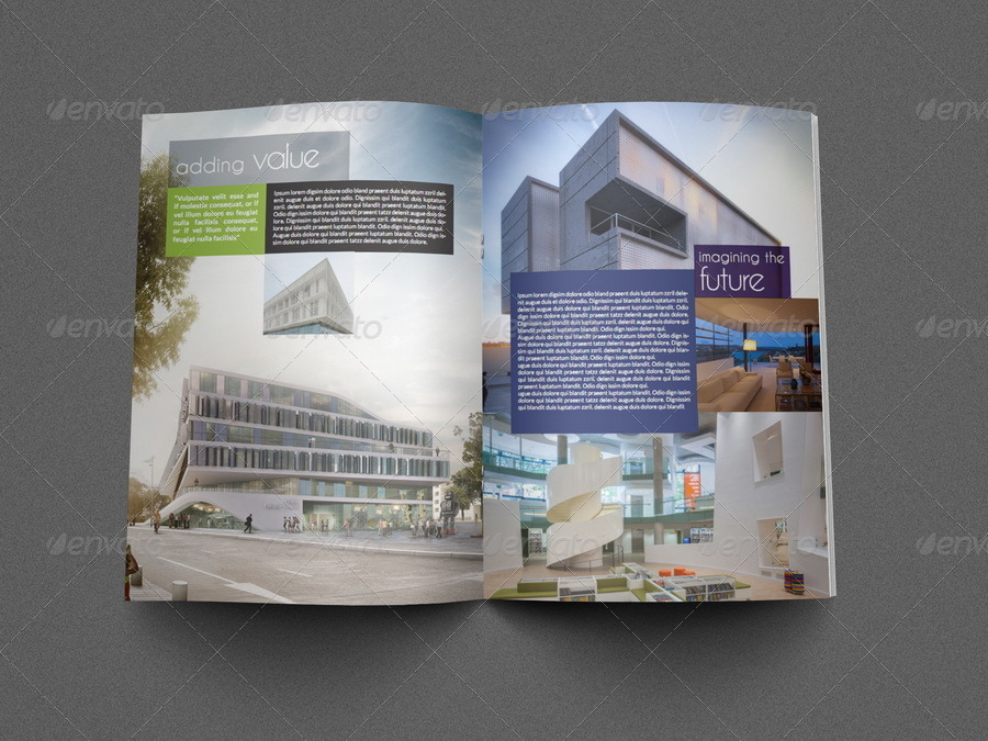 Architectural Brochure Template   Pages By Owpictures