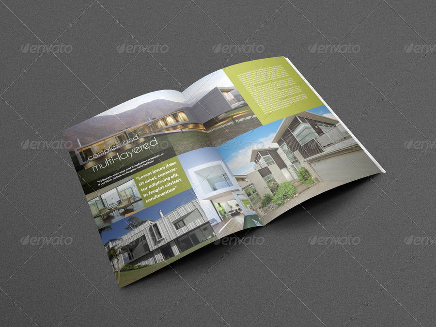 Architectural Brochure Template   Pages By Owpictures  Graphicriver