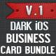 Dark iOS Business Card Bundle - 01 - GraphicRiver Item for Sale