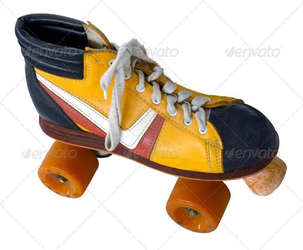 Retro Roller Skate - Stock Photo - Images
