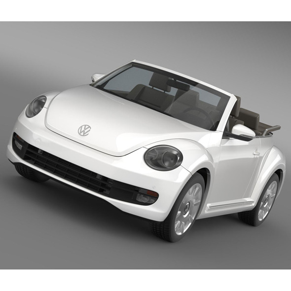 VW I Beetle Cabrio 2015 - 3DOcean Item for Sale