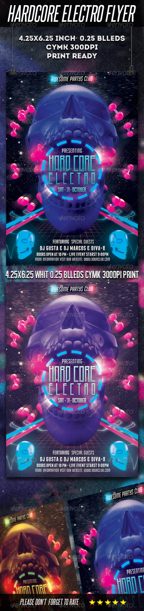 Hardcore Electro Flyer - Clubs & Parties Events
