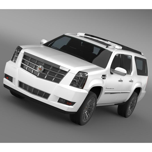Cadillac Escalade 2011 Platinum ESV - 3DOcean Item for Sale