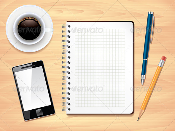 office table top view. Delighful View Notepad On Office Desk Top View Vector  Backgrounds Business Inside Table R