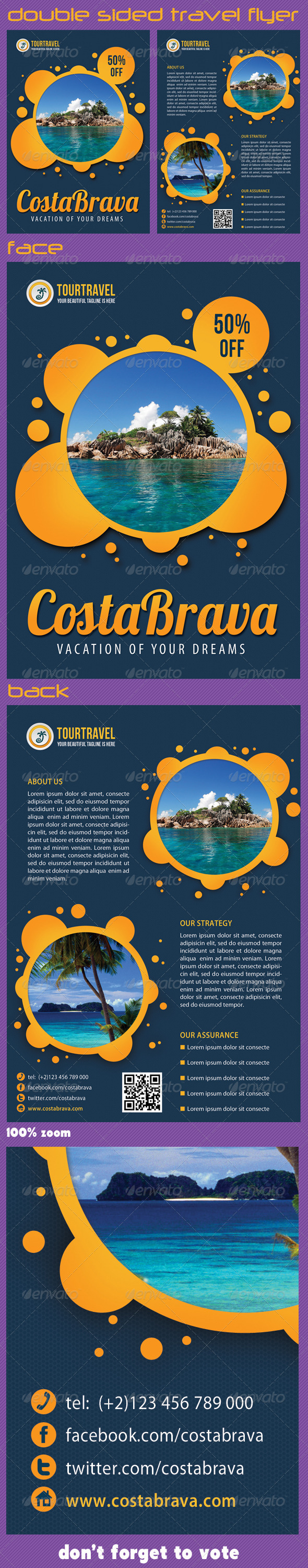Travel Agency Corporate Flyer 02 - Print Templates