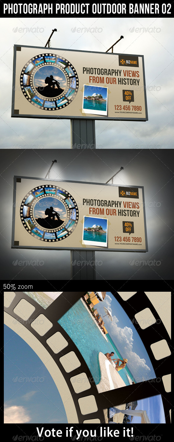 Photograph Product Outdoor Banner 02 - Signage Print Templates