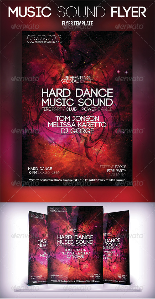 Music Sound Flyer - Events Flyers