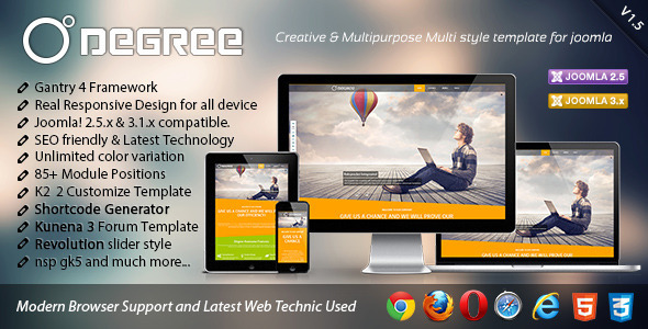 Degree Creative and Responsive Joomla Template