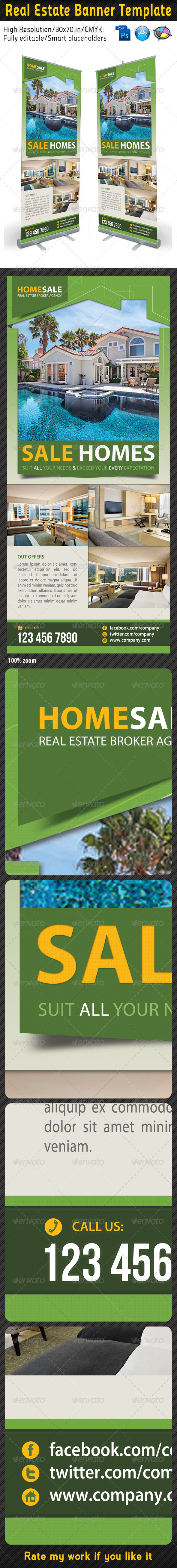 Real Estate Banner Template 02 - Print Templates